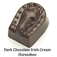 Dark Chocolate Irish Cream Horseshoe